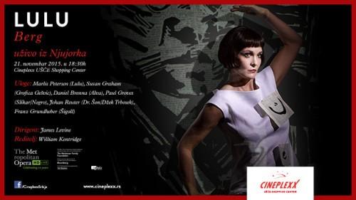 """Opera """"Lulu"""" u bioskopu Cineplexx UŠĆE"""