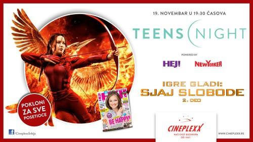 Teens night u bioskopu Cineplexx uz poklone za posetioce
