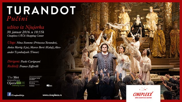 "Opera ""Turandot"" u bioskopu Cineplexx"