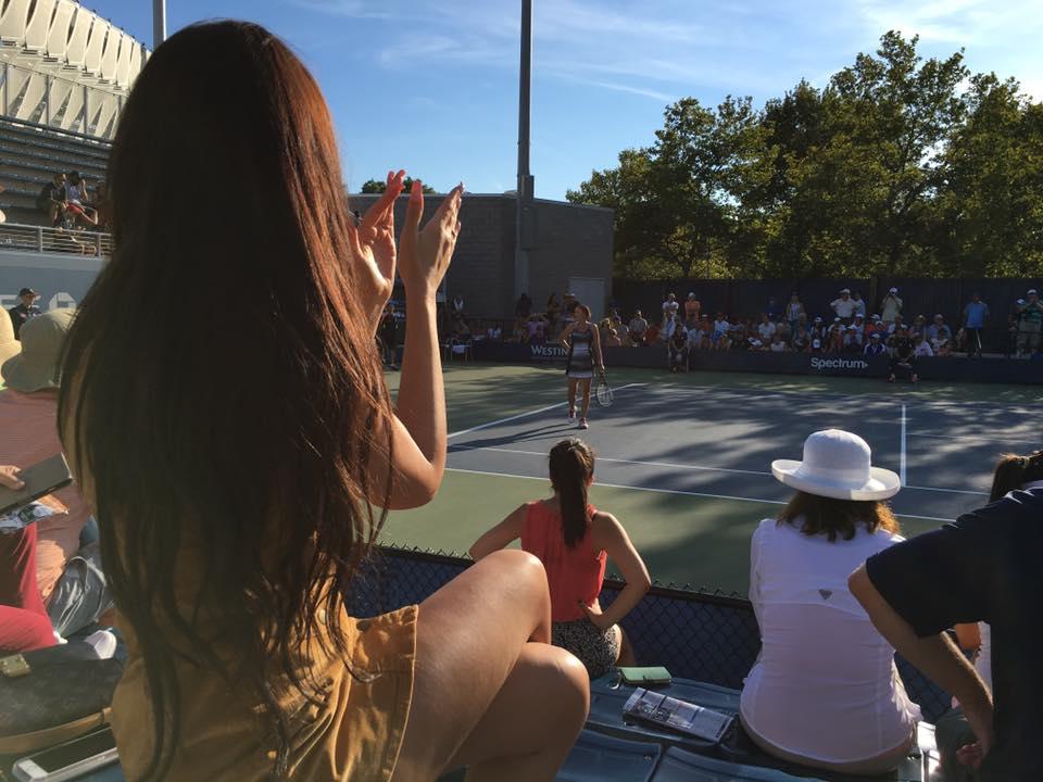 Dijana Janković bodrila sestru Jelenu Janković na US Openu