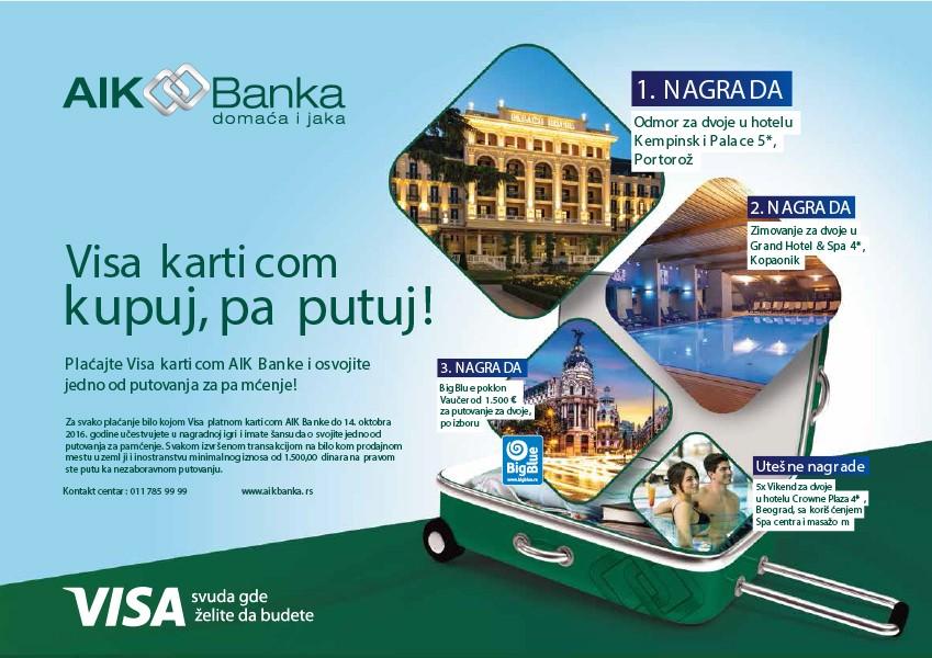 AIK BANKA I VISA VAS VODE NA PUTOVANJE!