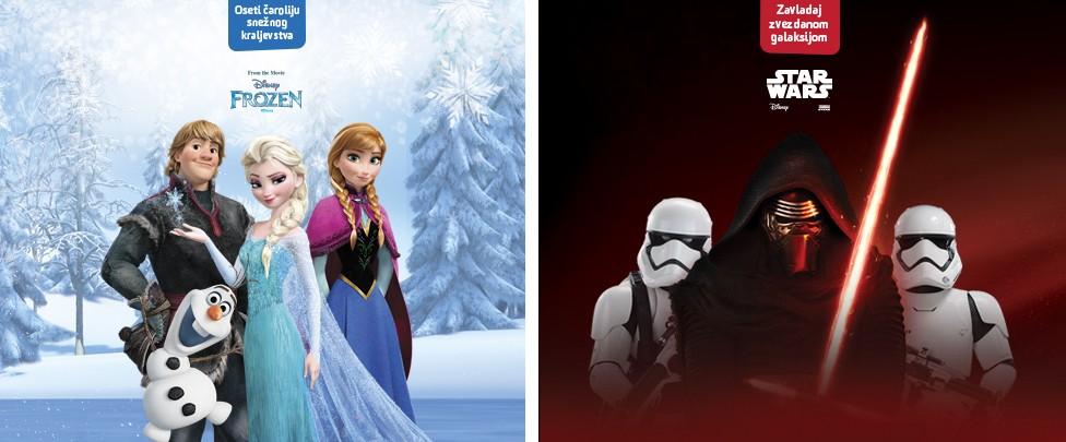 """Zanimljivosti o filmovima """"Ratovi zvezda"""" i """"Frozen"""""""
