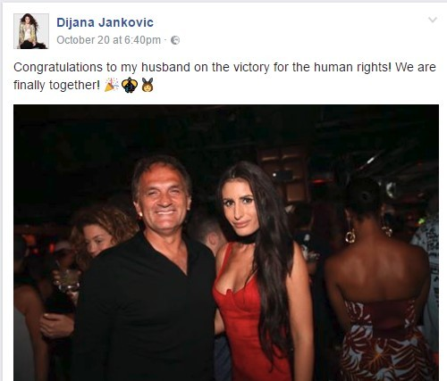 Suprug pevacice Dijane Jankovićj pusten iz pritvora!