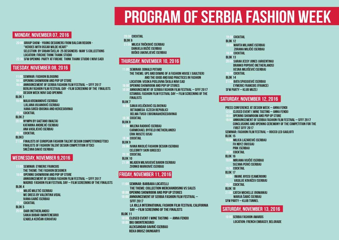 Serbia Fashion Week od 07.-13.novembra