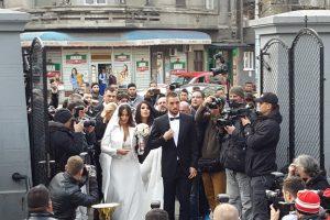 Teniseri sa mikrofonom na svadbi Viktora Troickog i Aleksandre Đorđević! (VIDEO)