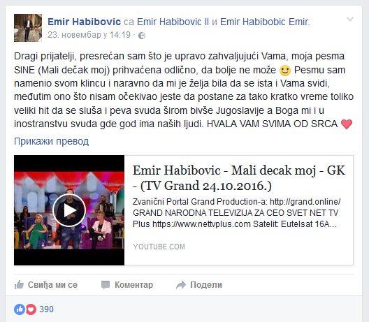 Nova pesma Emira Habibovića osvojila publiku! (VIDEO)