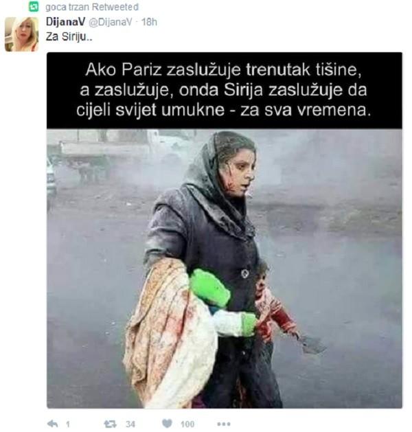 Goca je podelila potresnu fotografiju i izrazila žaljenje zbog stanja u Siriji! A onda su krenule prozivke!