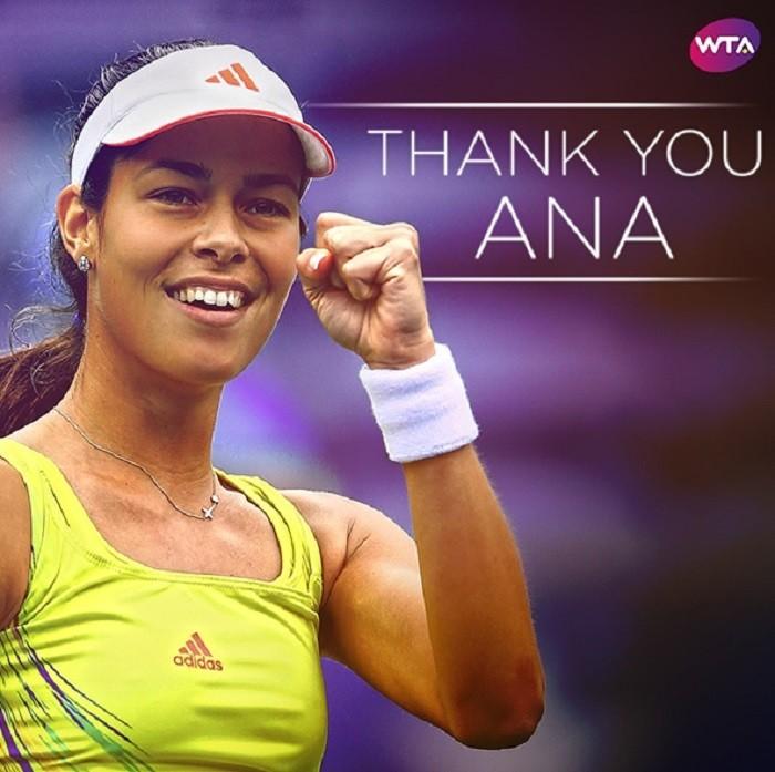 WTA zahvalila Ani Ivanović, a pogledajte i druge reakcije na njenu odluku o završetku karijere!