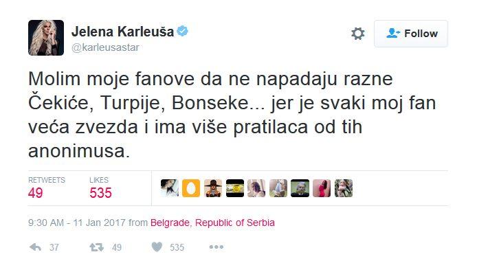 Jelena Karleuša ponovo udarila na Andreanu Čekić!