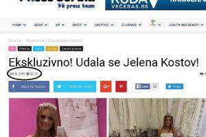 Potvrđeno pisanje PRessSerbia.com: Jelena Kostov ozvaničila brak početkom januara!