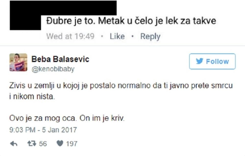 Jelena Balašević o pretnjama upućenim njenom ocu!
