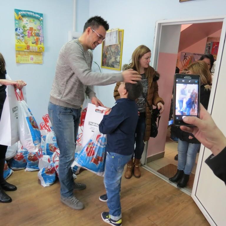 Željko Vasić proslavio Svetog Savu sa najmlađima
