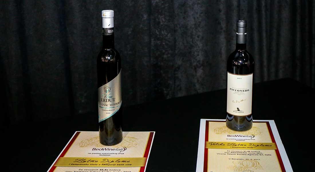 Predstavljena pobednička vina na Sajmu vina BeoWine