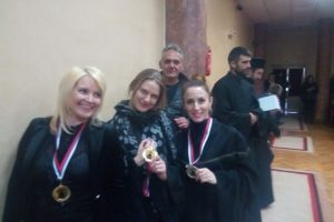 Katarina Stojanović, Ana Sakić i Maja Nikolić učestvovale u obnavljanju Hrama Sv. Anastasije