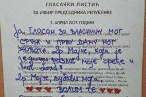 Beograđanin izašao na glasanje, pa na listiću napisao PISMO!