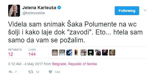 Karleuša napala Šaka Polumentu zbog 4 nova XXX klipa: Šutnuću te u glavu!
