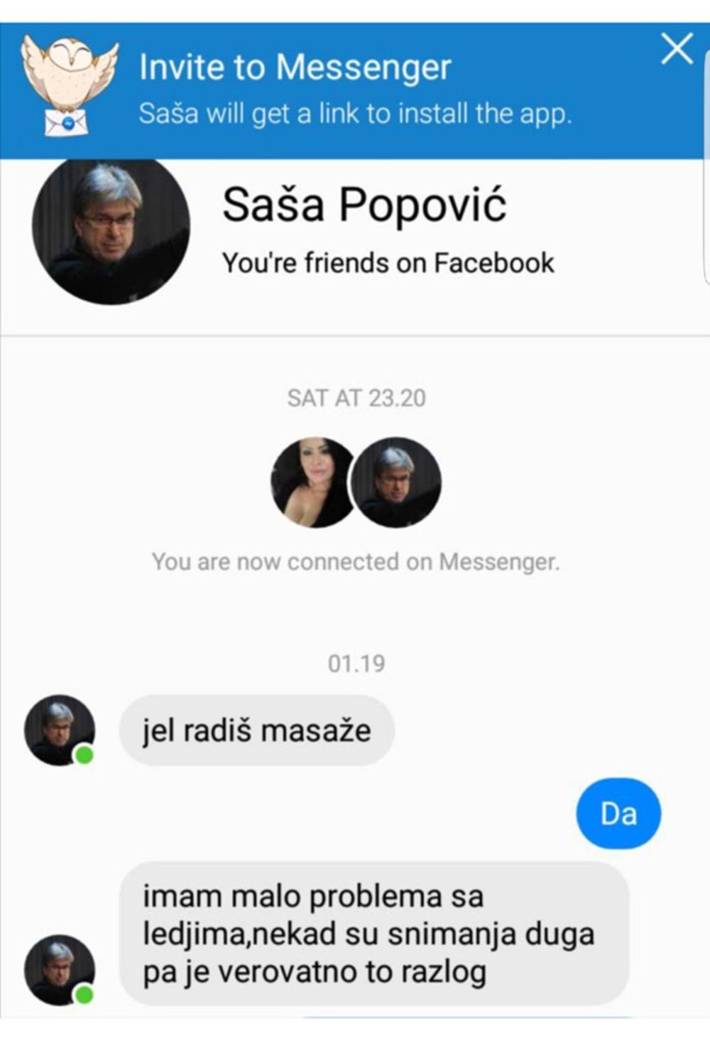 Saši Popoviću otvorili lažni FB profil pa slali devojkama poruke