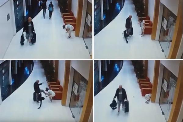 Švedski turista iz sve snage šutnuo u glavu sobaricu otišao! (VIDEO)