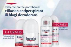 Eucerin, antiperspiranti i dezodoransi u pakovanju - dva po ceni jednog