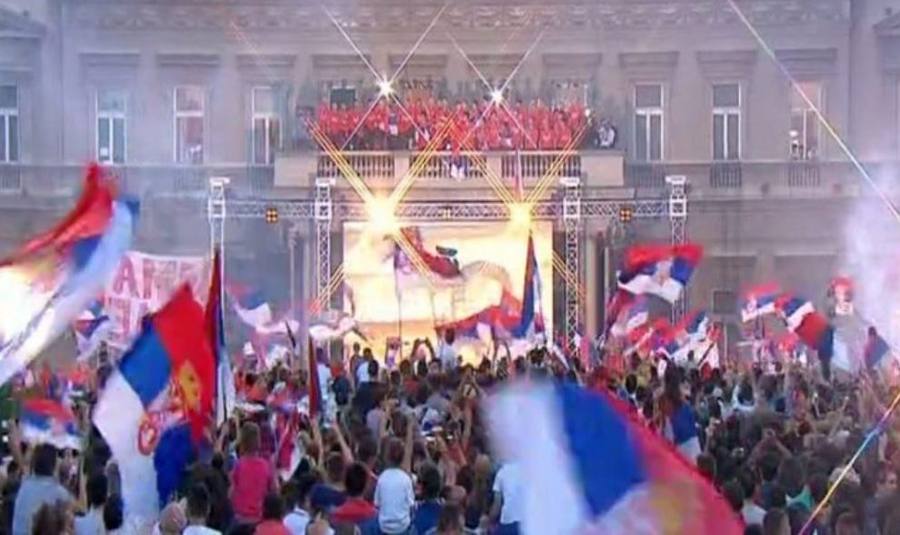 Odbojkašice proslavile osvojeno zlato s navijačima u Beogradu