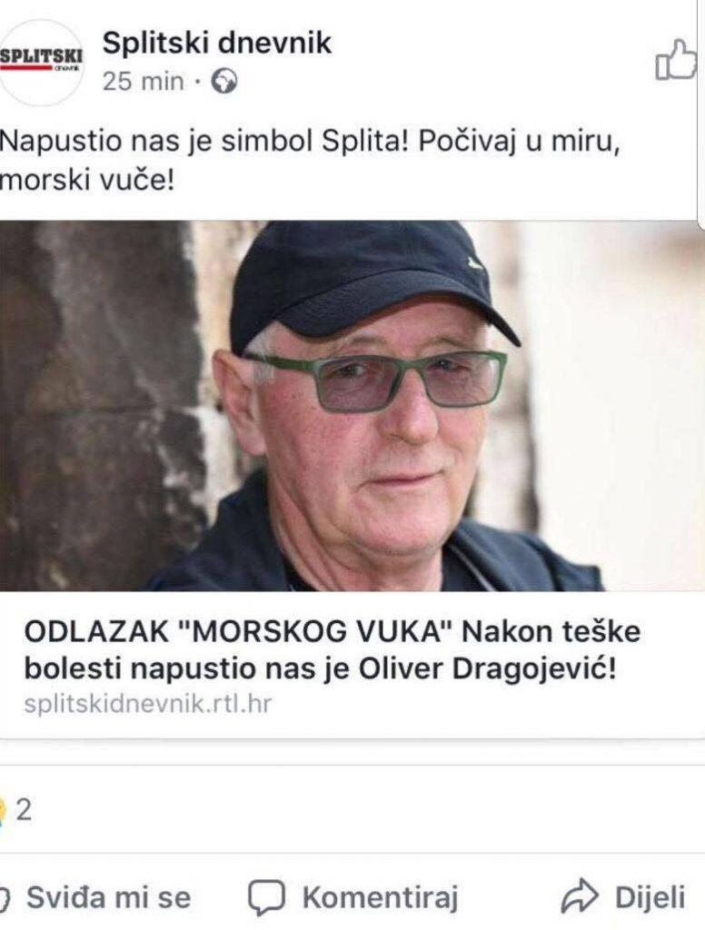 Lažna vest o smrti Olivera Dragojevića kruži internetom!
