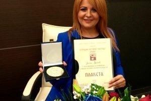 Savez estradnih umetnika Srbije dodelio istaknuta priznanja Jasni Đokić!
