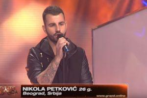 """Nikola Petković oduševio žiri izvođenjem pesme """"DODIRNI ME"""" !"""