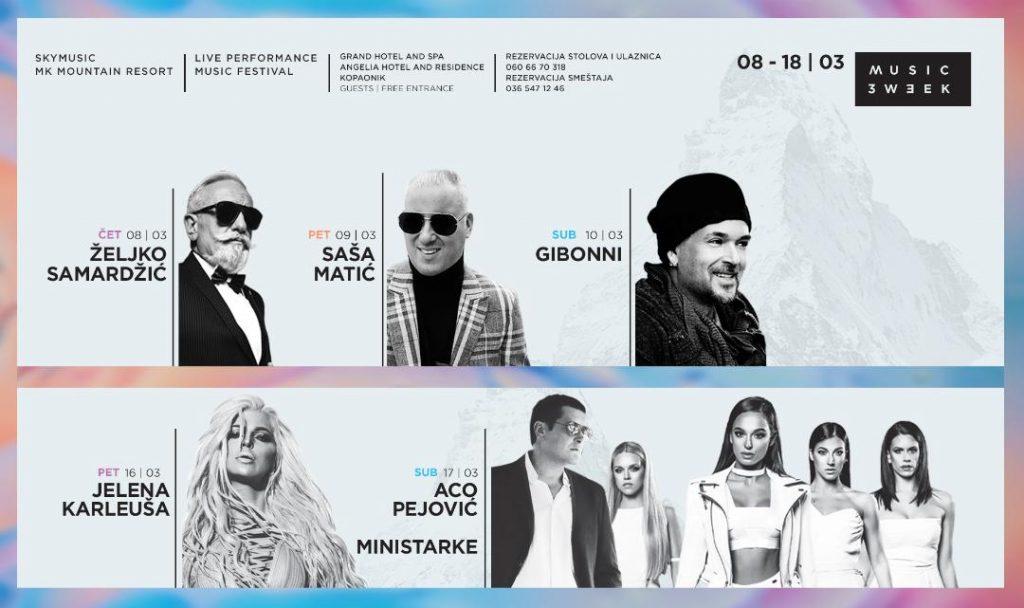 Jelena Karleuša, Ministarke i Aco Pejović zatvaraju MUSIC WEEK