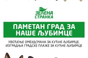 Zelena stranka: Groblje za kućne ljubimce uskoro, o plaži se razmišlja, ombudsman nejasan zvaničnicima