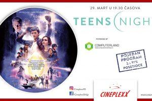 """TEENS NIGHT UZ FILM """"READY PLAYER ONE"""" U CINEPLEXXU"""