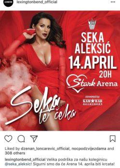 Slađa Alegro: Na Sekin koncert, pa u porodičište!