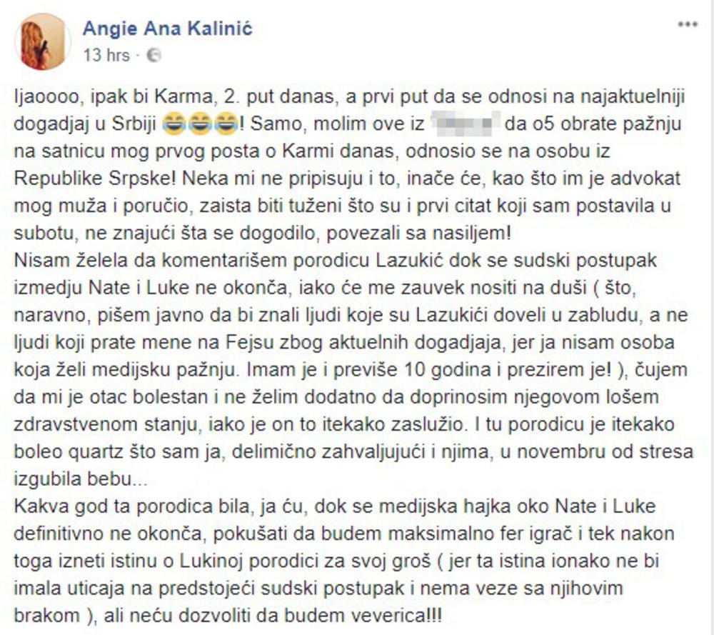 Sestra Lazukica optužuje da joj je OTEO STAN!