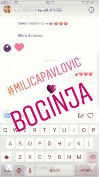 Milica Pavlović pružila podršku koleginici!