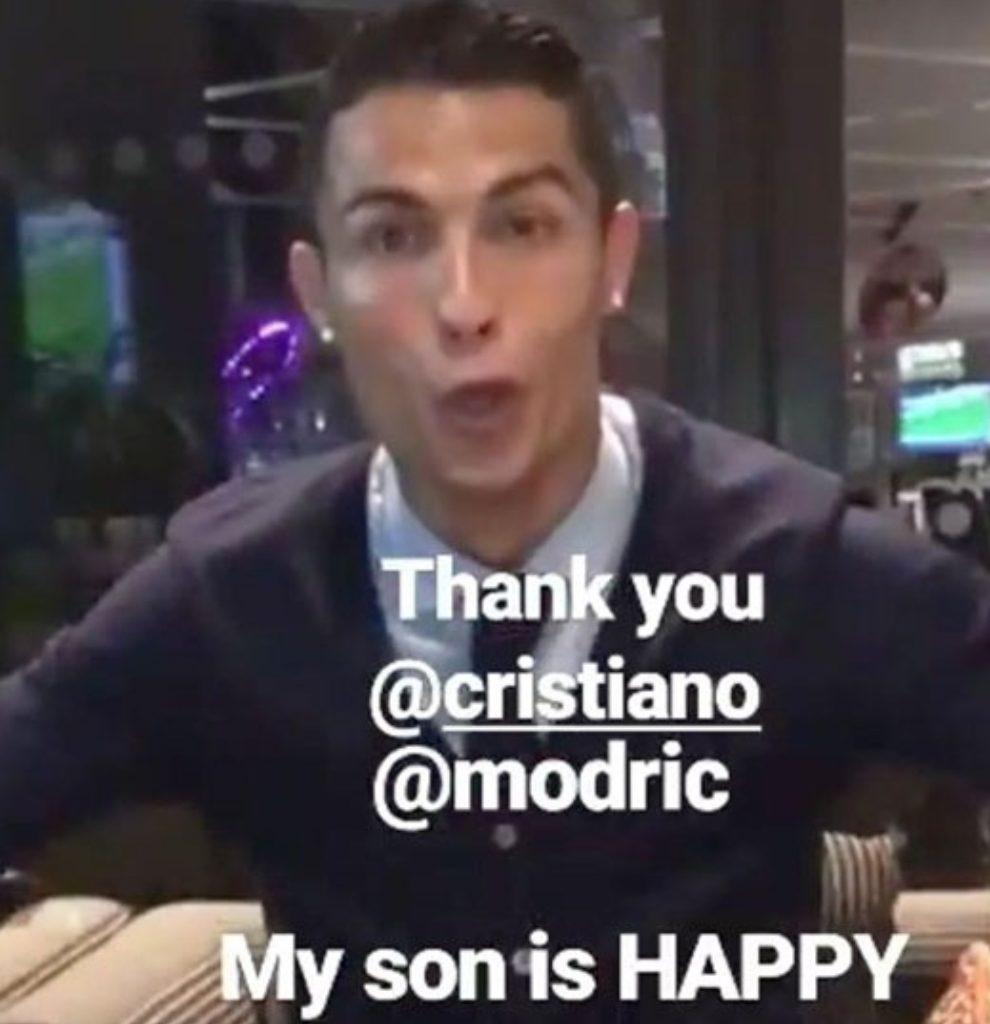 Matićev sin dobio rođendansku čestitiku od Ronalda (VIDEO)