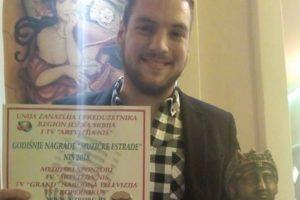 Nemanja Maksimović ponosan zbog priznanja koje je dobio u Nišu!