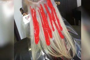 Farbanje kose kapanjem boje - da li će ova tehnika farbanja kose osvojiti svetske salone?