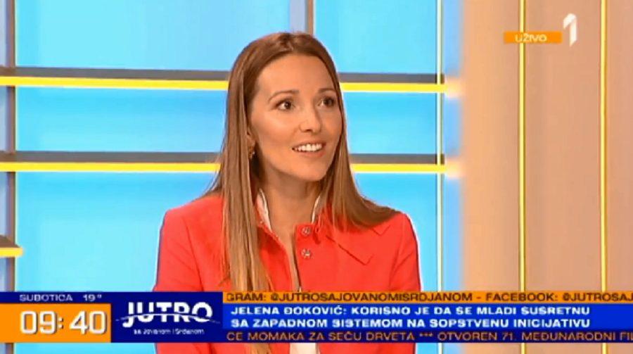 Jelena Đoković: Zbog čega je od detinjstva maštala da studira u inostranstvu i čime se sve bavila rekla je u Jutru sa Jovanom i Srđanom
