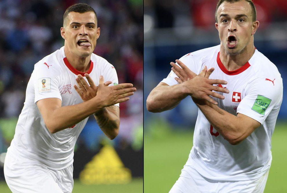 SRAMOTA ZA FIFA I CEO SVET: Evo kako su Albanci Džaka i Šaćiri kažnjeni za provociranje Srba!