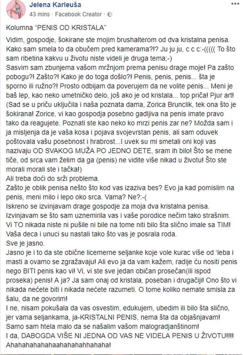 Karleuša brutalno izvređala Zoricu Brunclik