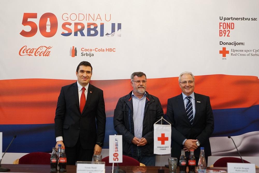 PODRŠKA NARODNIM KUHINJAMA POVODOM 50 GODINA POSLOVANJA COCA-COLA SISTEMA U SRBIJI