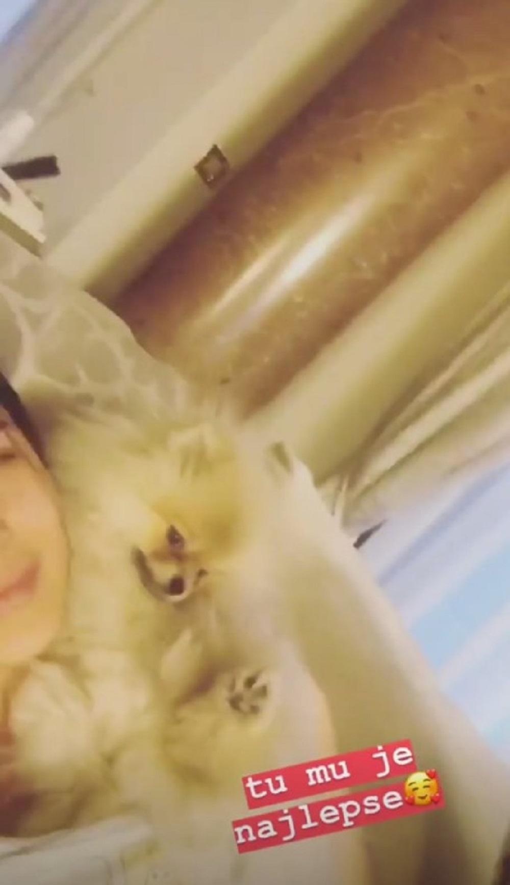 Pogledajte sa kim se Anastasija Ražnatović mazi u krevetu