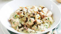 RECEPT DANA: Piletina u dižon sosu sa pečurkama