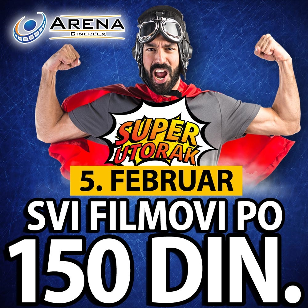 """""""Super utorak"""" u bioskopima Roda Cineplex i Arena Cineplex"""
