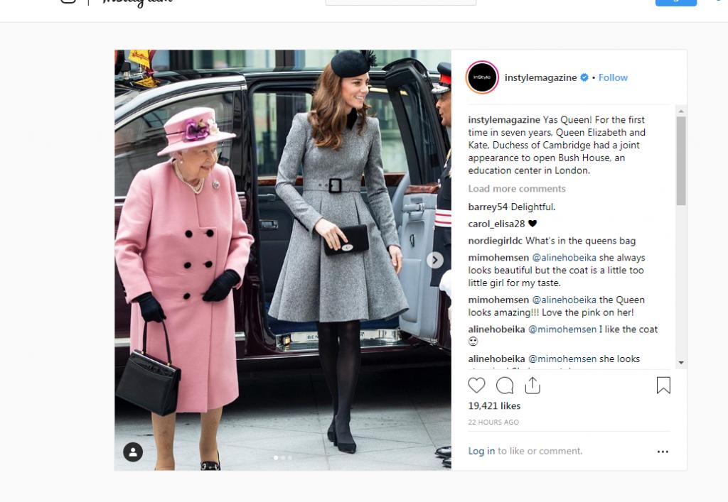 Prema procenama ekspereta za govor tela, kraljica i Kejt su u prijateljskim odnosima. Na snimcima jučerašnje posete moglo se primetiti da ostvaruju direktna kontakt, telom i očima. Ovo možda i ne čudi s obzirom na to da je Kejt Midlton deo kraljevske porodice već osam godina i imala je dovoljno vremena za povezivanje sa kraljicom.