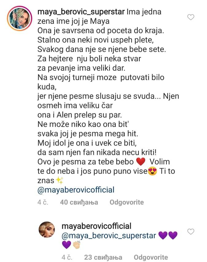ONA JE SAVRŠENA OD POČETKA DO KRAJA: Fanovi napisali pesmu o Mayi Berović! (FOTO)