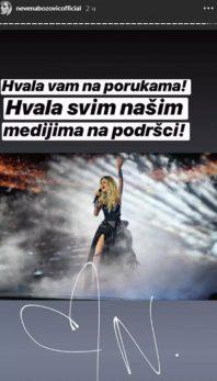 OGLASILA SE NEVENA BOŽOVIĆ! Evo šta je poručila naša predstavnica na ovogodišnjem Evrosongu!