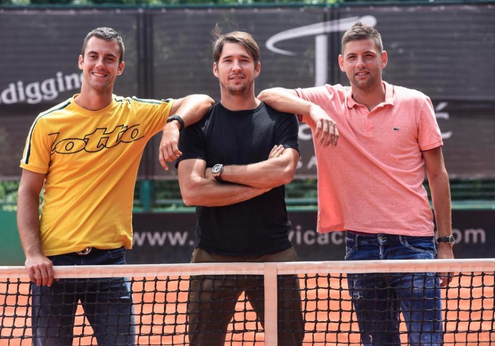 Teniseri Laslo Đere, Dušan Lajović i Filip Krajinović održali konferenciju za srpske medije