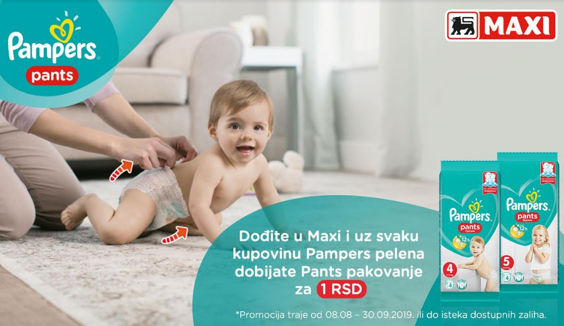 3,2,1… Krećemo! Pampers Pants za aktivne bebe