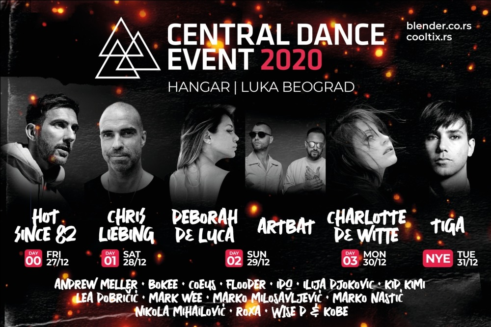 Kompletiran program Central Dance Event-a 2020