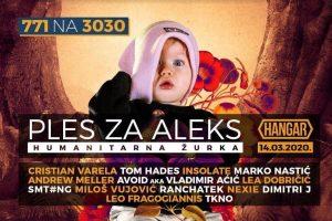 HUMANITARNA ŽURKA – PLES ZA ALEKS U subotu, 14. marta, Beograd pleše za Aleks, u Hangaru u Luci Beograd